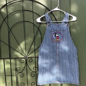 striped disney overalls